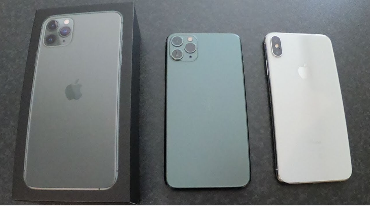 New Apple Iphone 11 Pro Max 256gb In Green Unboxed And Comparison