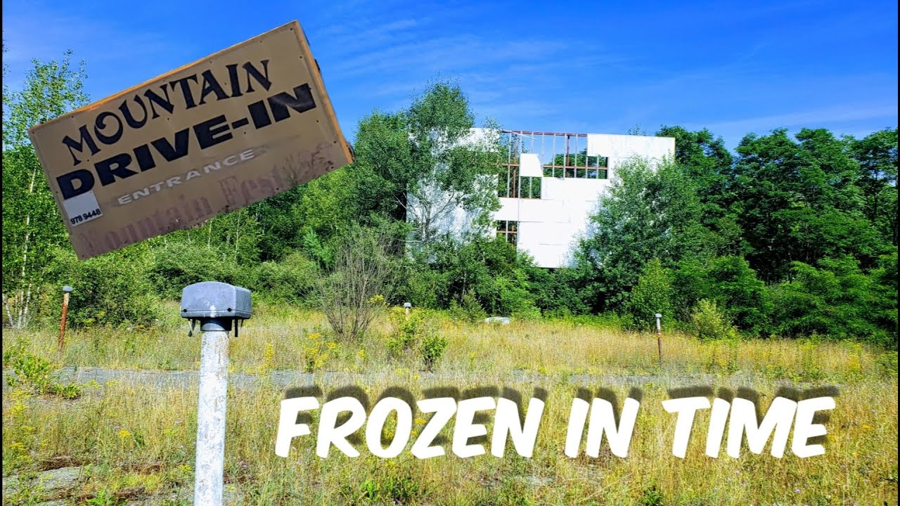 Abandoned Mountain Drive Inn ... Even Left the Video Games