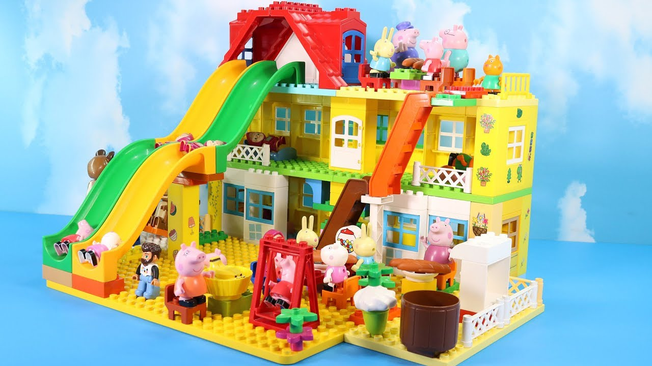 Lego Duplo Peppa Pig House Construction Set Peppa Pig Legos Creations Toys For Kids 4