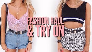 Fashion Haul & Try On - Pretty Little Thing, Boohoo, ASOS | Fashion Influx thumbnail