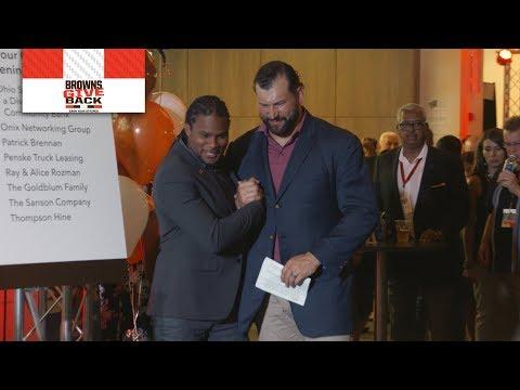 Joe Thomas and Josh Cribbs reunite to give back