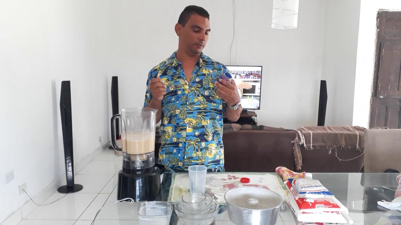 Bolo de fubá no liquidificador com Rodrigo Hilbert de Pernambuco