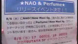 Perfume かしゆか NAO(當山奈央)(スタジオで練習中) feel blue feel thanks 2003/08/02.