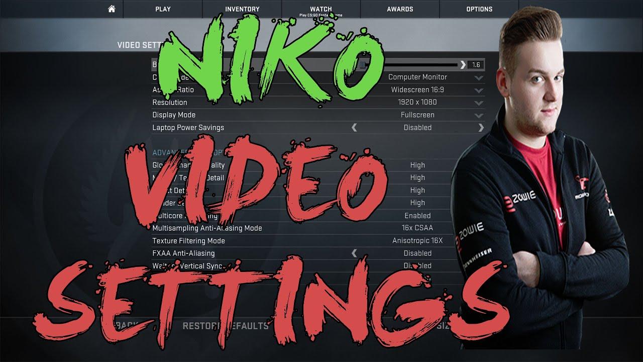 nuestra Hacer prefacio  CSGO: mouz NiKo video settings - YouTube