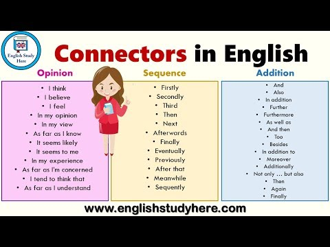 Connectors in English   List of Sentence Connectors in English   Transition Words List