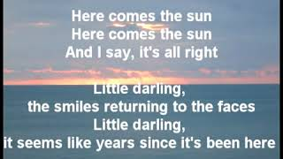 Here Comes The Sun - The Beatles (Lyrics)