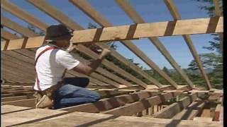 Этап 23.  Усиление стропил двускатной крыши