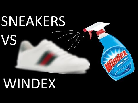 I Sprayed WINDEX On My Shoes! THIS IS WHAT HAPPENED