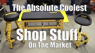 Awesome DEWALT Shop Swag | Garage Bench & Workshop Stool