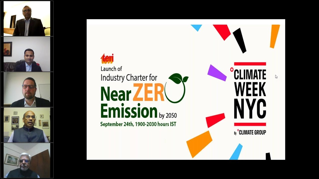 Webinar on Launching Industry led Near Zero Emissions initiative