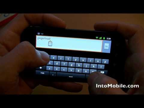 Android 2.3 Gingerbread OS walkthrough and software demo