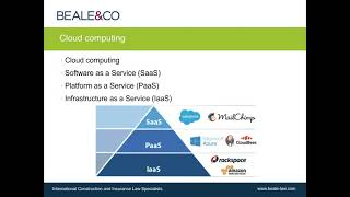 Webinar: Software as a Service - Consultants as Technology Providers and the Legal Ramifications