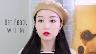 get ready with me 비오는날 메이크업 rainy day makeup ood