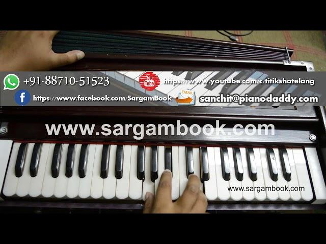 Main Nikla Gaddi Leke (Gadar) Harmonium Lesson ~ Sargam Book