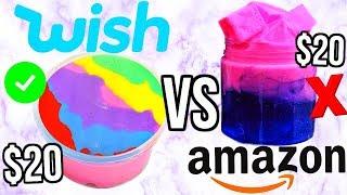 $20 Wish Slime VS $20 Amazon Slime! *OMG*