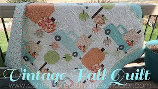 VINTAGE FALL Quilt Pattern // GIVEAWAY!!