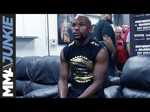 Thumbnail: Floyd Mayweather full media scrum at Mayweather Boxing Club
