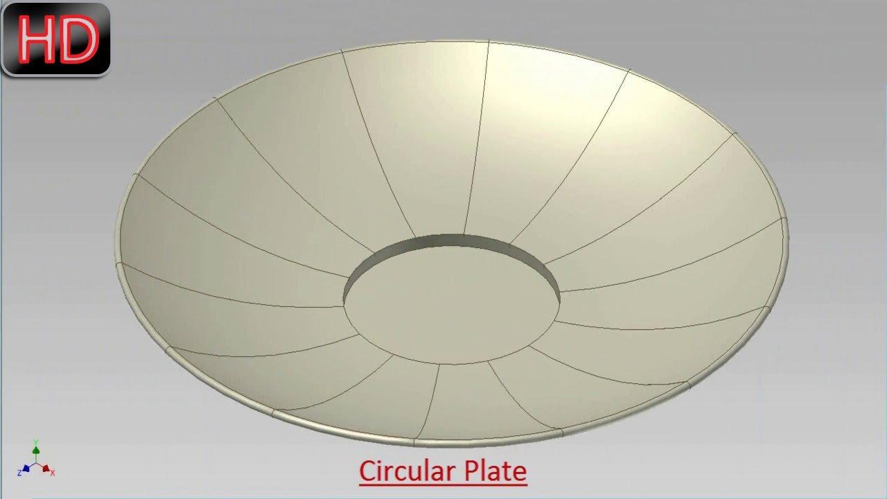 Circular Plate Video Tutorial Autodesk Inventor Youtube