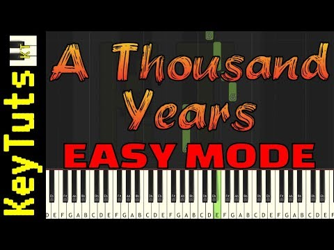Learn to Play A Thousand Years  Christina Perri  Easy Mode