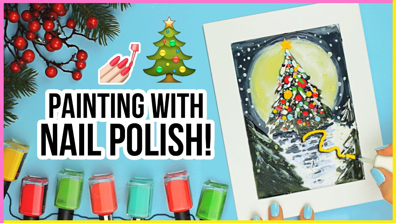 art challenge painting with nail