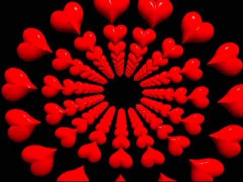 Lovely Red Hearts Rotate Video Background Animation Motion ...