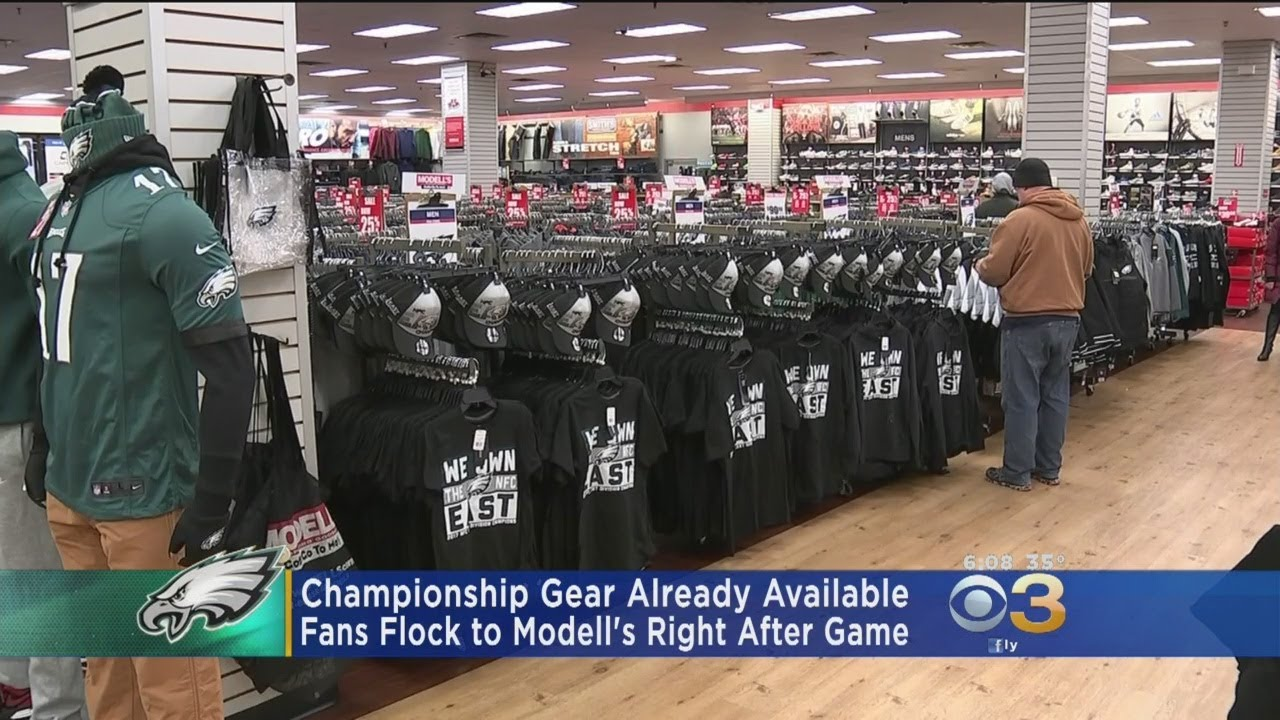 Eagles NFC East Champions Gear Already Available At Modell s - YouTube 455955e64