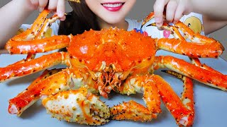 ASMR EATING WHOLE KING CRAB EATING SOUNDS