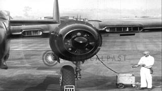 United States Army Air Force P-61 Black Widow demonstration: P-61 takes off in Ha...HD Stock Footage