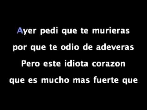 """Karaoke  """"Ayer Pedí Que te Murieras"""" - Victor García"""