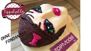 Topmodel Torte aus Sahne 3D Torte ohne Fondant Anleitung
