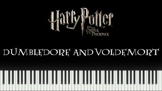 Harry Potter 5 Video Game - Dumbledore and Voldemort (Piano Tutorial)