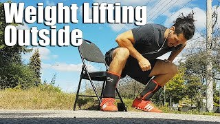 Olympic Weight Lifting Workout Outside Kicked My Butt!