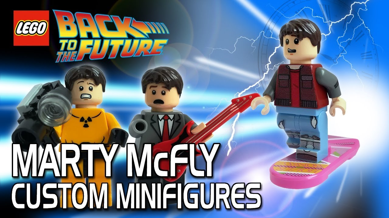 Lego Back To The Future Custom Marty Mcfly Minifigures