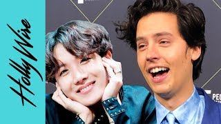 Cole Sprouse Has A Man Crush On J-Hope and BTS!! | Hollywire