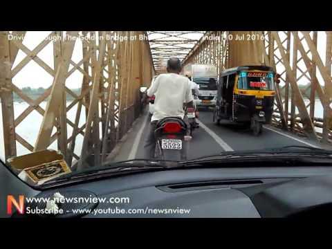 Golden Bridge Bharuch Narrow Bridge Longest Bridge Gujarat India