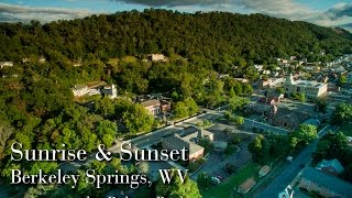 Berkeley Springs, WV Sunrise & Sunset