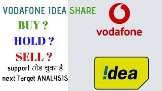 VODAFONE IDEA SHARE LATEST NEWS  BUY HOLD OR SELL???? समर्थन टूट गया