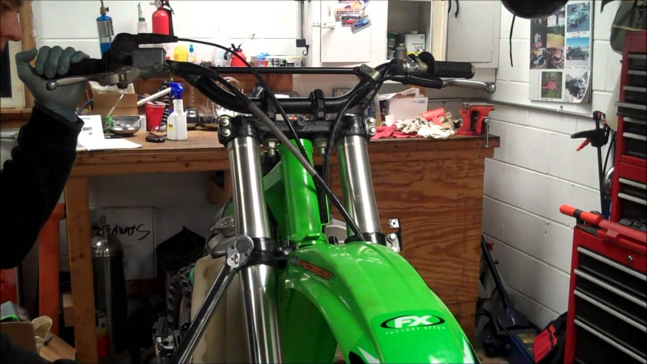 Kx250 Fork Removal Install Youtube