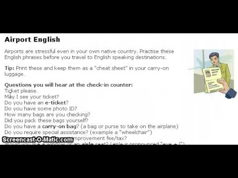 EnglishClub.com: Airport English