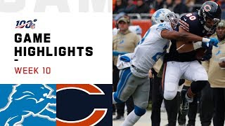 Lions vs. Bears Week 10 Highlights | NFL 2019