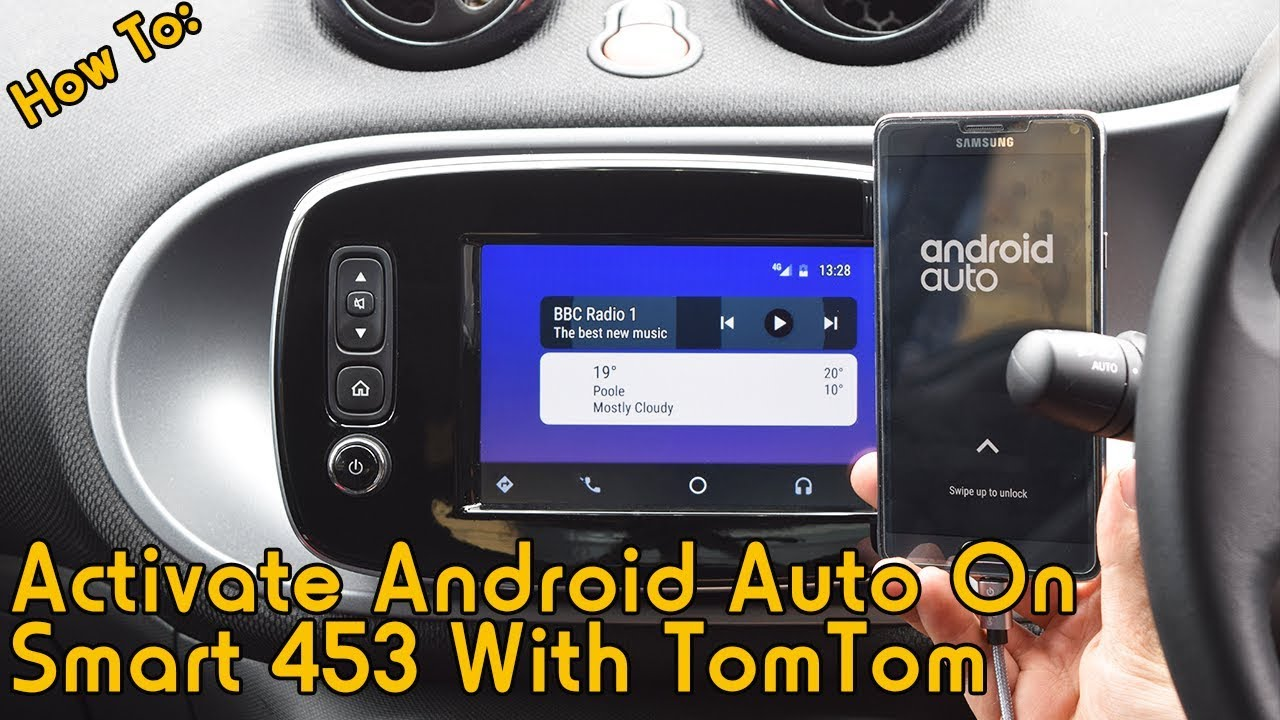 How To: Activate Android Auto on Smart 453 TomTom Media System with DDT4ALL
