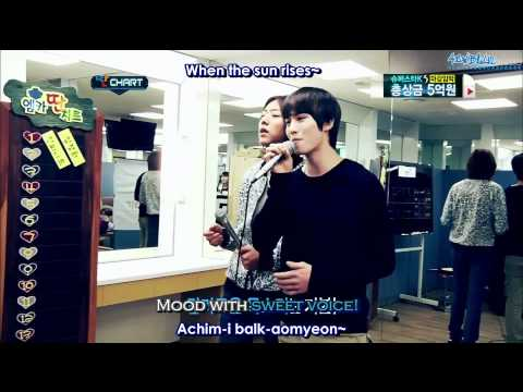 [Subbed by 4CNBLUE] 110519 Mnet Different Chart - Karaoke