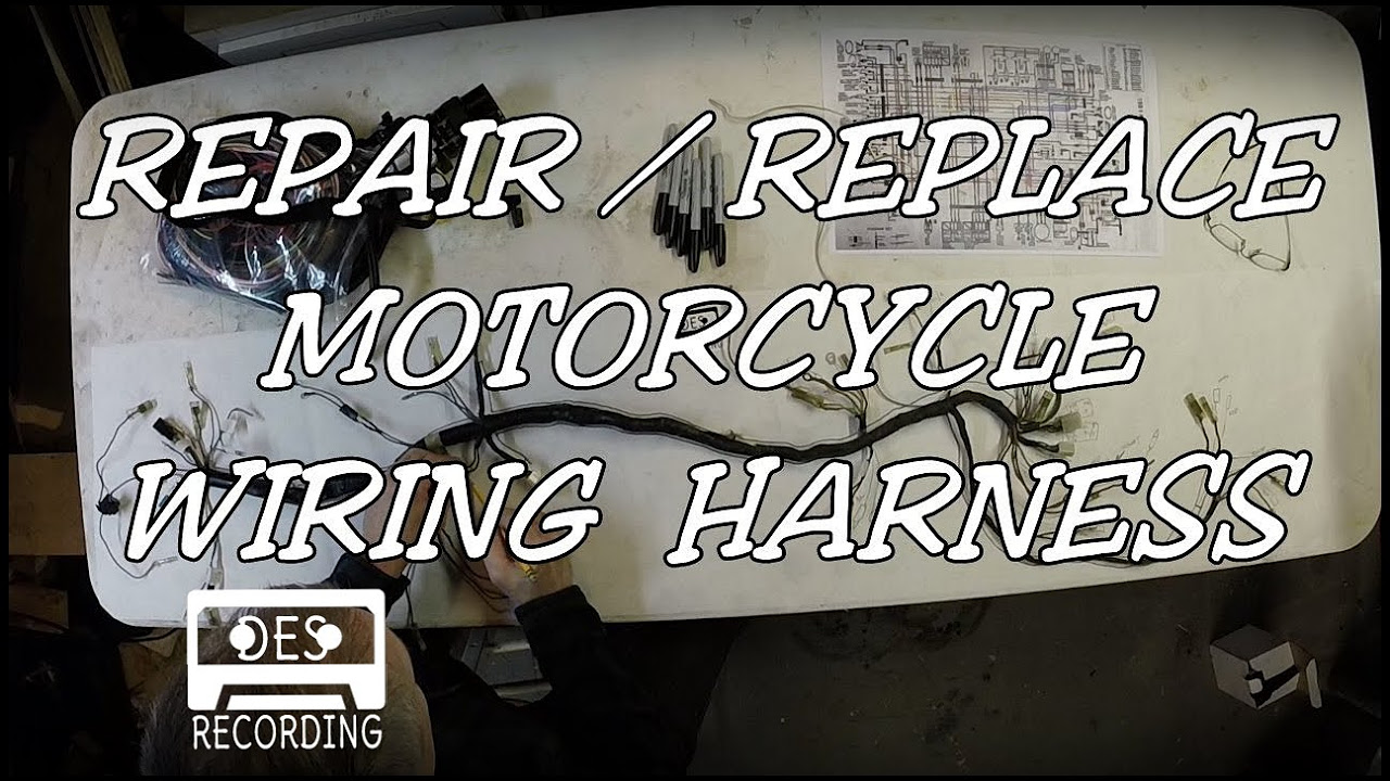 medium resolution of motorcycle wiring harness repair replace loom how to rebuild new wires connectors youtube