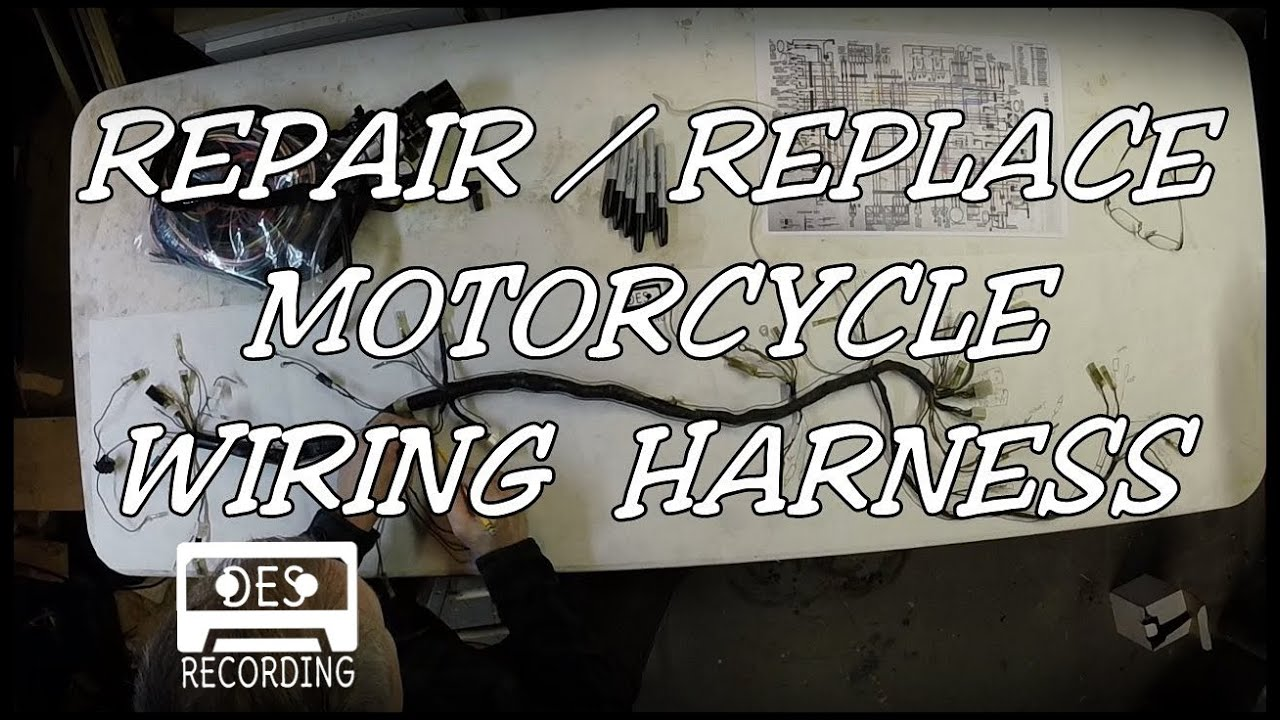 motorcycle wiring harness repair replace loom how to rebuild new rh youtube com  wiring diagram for victory motorcycles