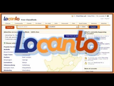 Locanto login page