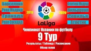 Ла Лига 2019 20 Чемпионат Испании 9 Тур Результаты Таблица Расписание 10 тура