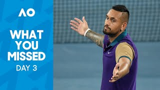 Kyrgios, Djokovic, Serena – What You Missed Day 3