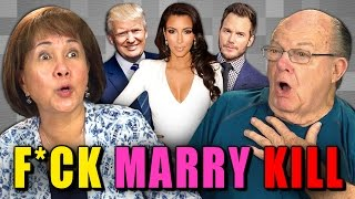 Elders play f*** marry kill (react special)