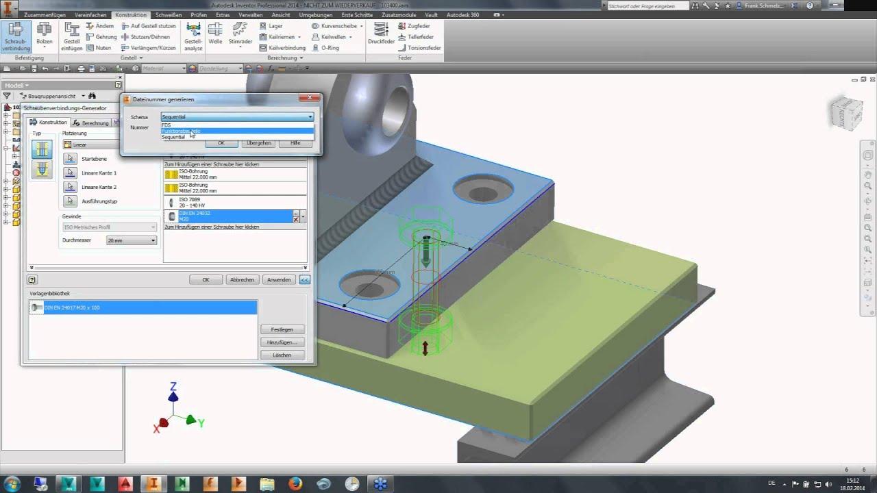 Online Workshop ≡ Autodesk Inventor KonstruktionTeil 1 ...