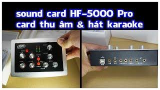 Sound Card HF 5000 Pro chính hãng, sound card hát Karaoke tốt nhất